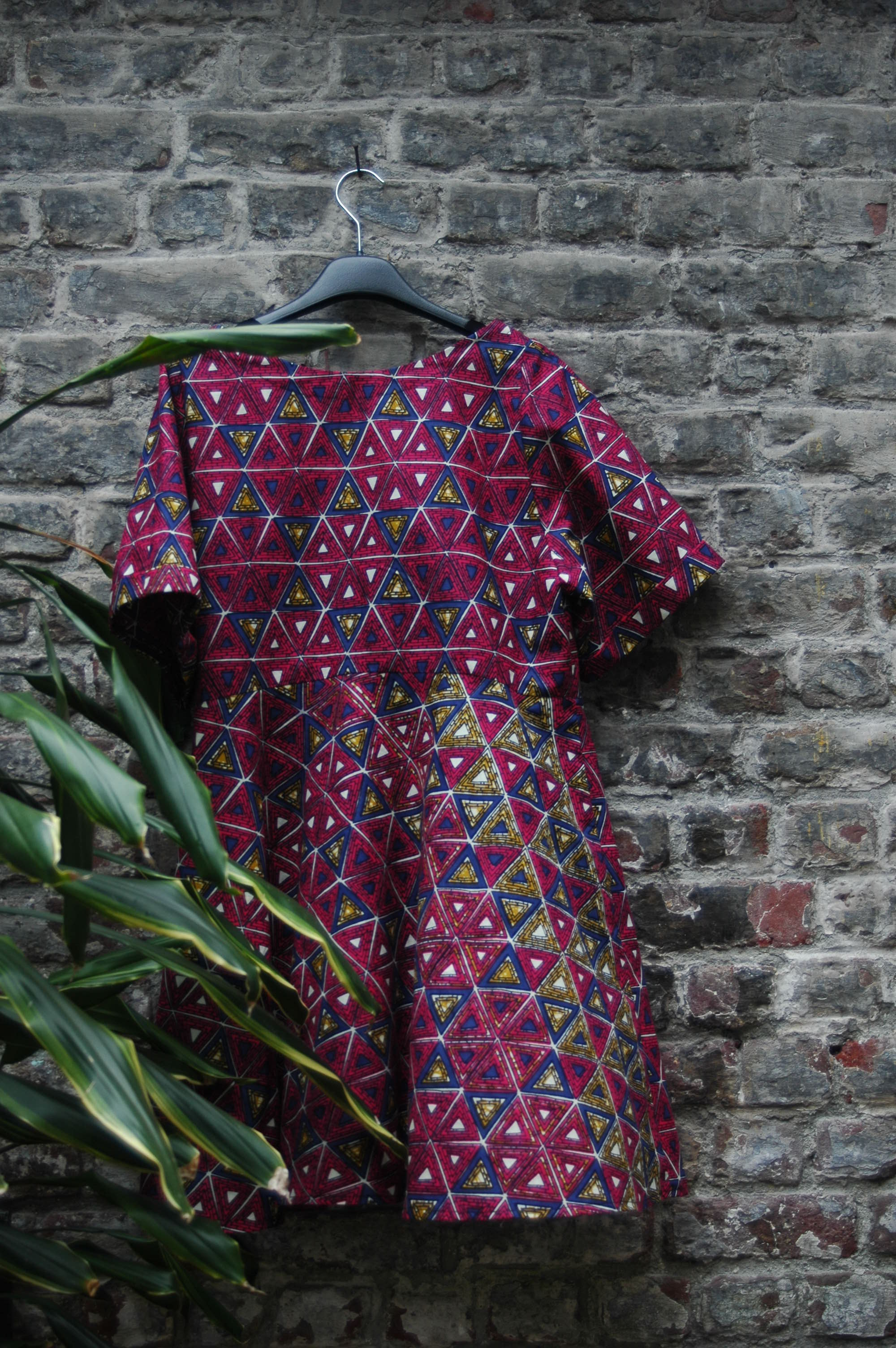 Triangle prints dress